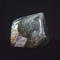 Лабрадор натуральный камень интерьерный сувенир 11х9х4,5см вес 1,135кг