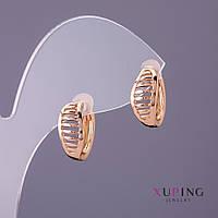 Серьги Xuping d-6мм L-14мм цвет золото