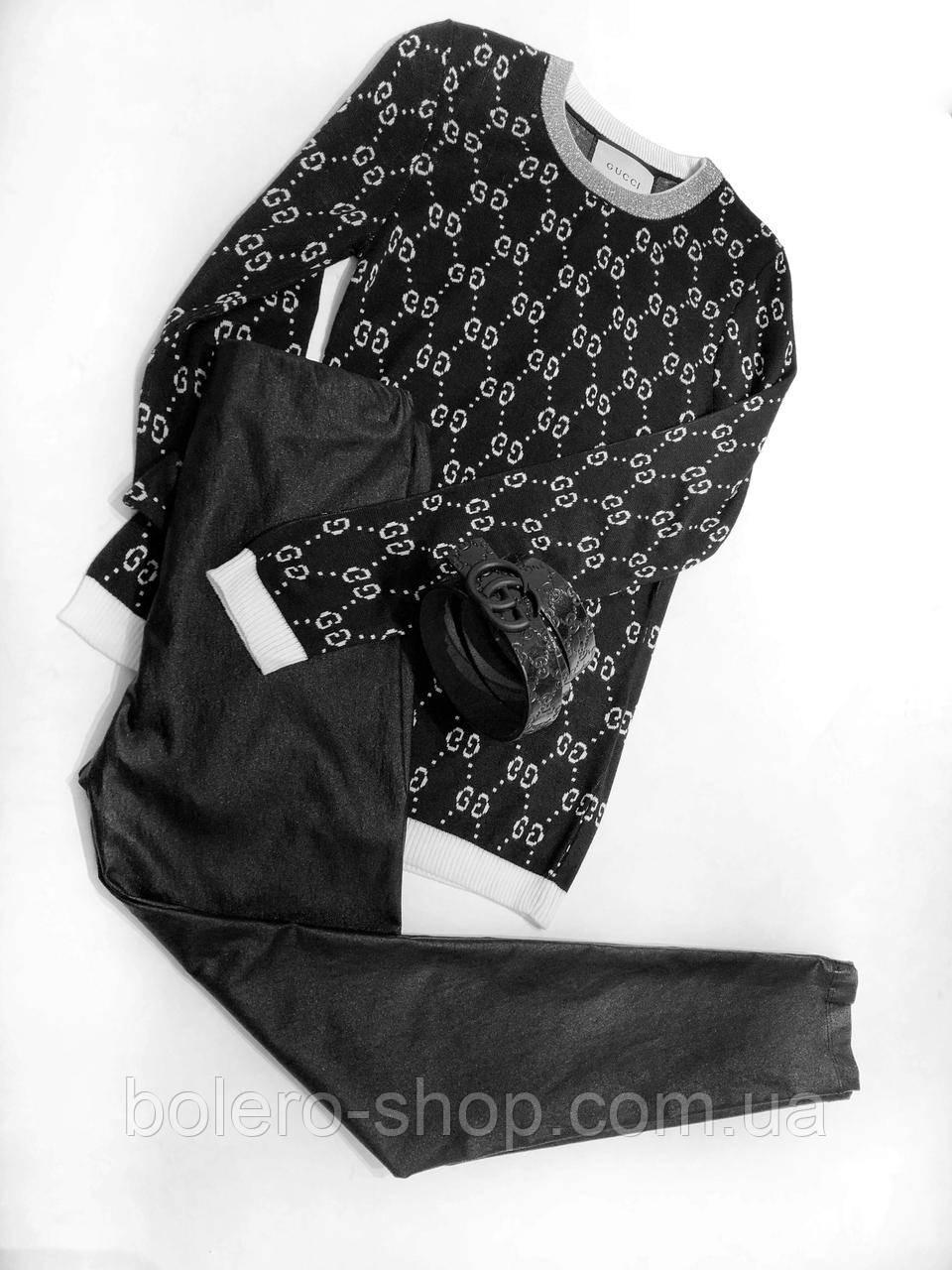 Свитер свитшот женский черный  Gucci