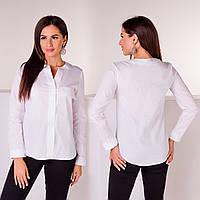 Рубашка женская котон 3001 белая