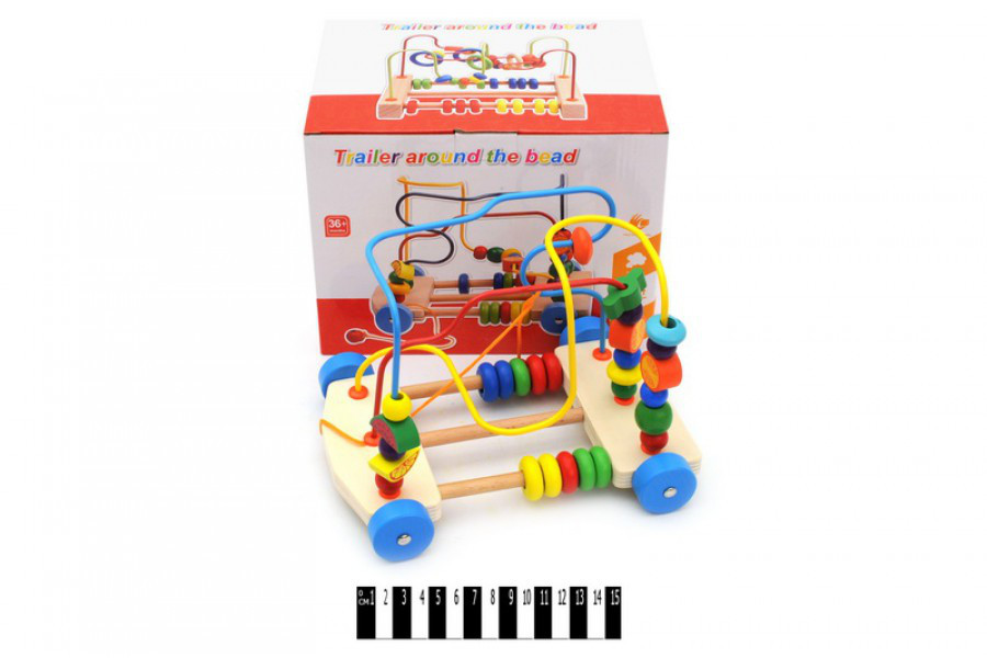 Деревянная игра Пальчиковый лабиринт Машинка 667А/В/С, деревянная серп