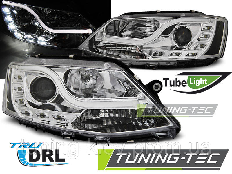 Передние фары VW JETTA VI 1.11- TUBE LIGHT TRU DRL CHROME