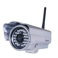Камера wi-fi с проводной и беспроводной связью lux j0233-ws-irs, 640*480, микрофон, ик-подсветка, наружная