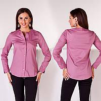 Рубашка женская котон 3001 серень