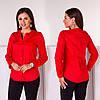 Рубашка женская котон 3001 красный