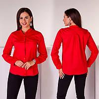 Рубашка женская котон 3002 красный