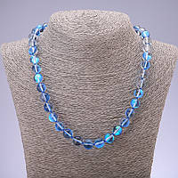 Бусы Опаловое стекло голубое d-10мм L-48см
