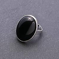Кольцо Агат гладкая оправа d-27х20мм без р-р