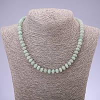Бусы натуральный камень Нефрит гладкий рондель d- 8х5мм L-45см