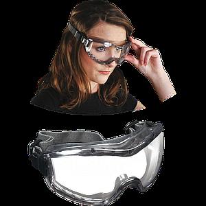 Защитные очки MCR-STRYKER-F TS стекла с уплотнением из TPR, темно-серого цвета. MCR