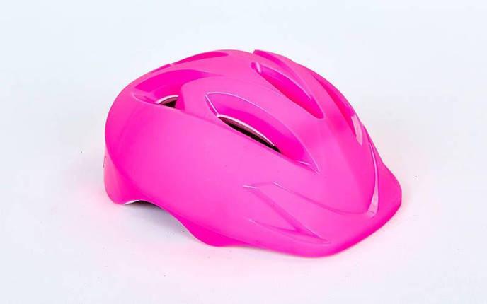 Шлем защитный детский - Розовый р.S-M, фото 2