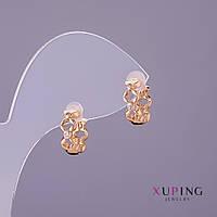 Серьги Xuping d-5мм L-12мм цвет золото