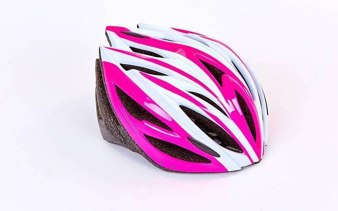Шлем защитный велосипедный - PINK р. M, фото 2