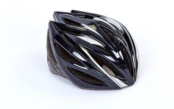 Шлем защитный велосипедный - Black р. M, фото 2
