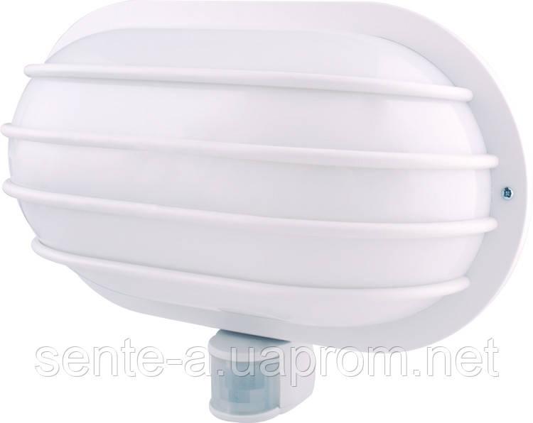 Светильник настенный с датчиком движения e.sensor.lum.69.e27.white (белый) 180 °, IP44