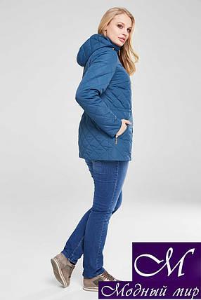 Демисезонная женская куртка большого размера (р. 48-68) арт. Мейси т.морская волна, фото 2