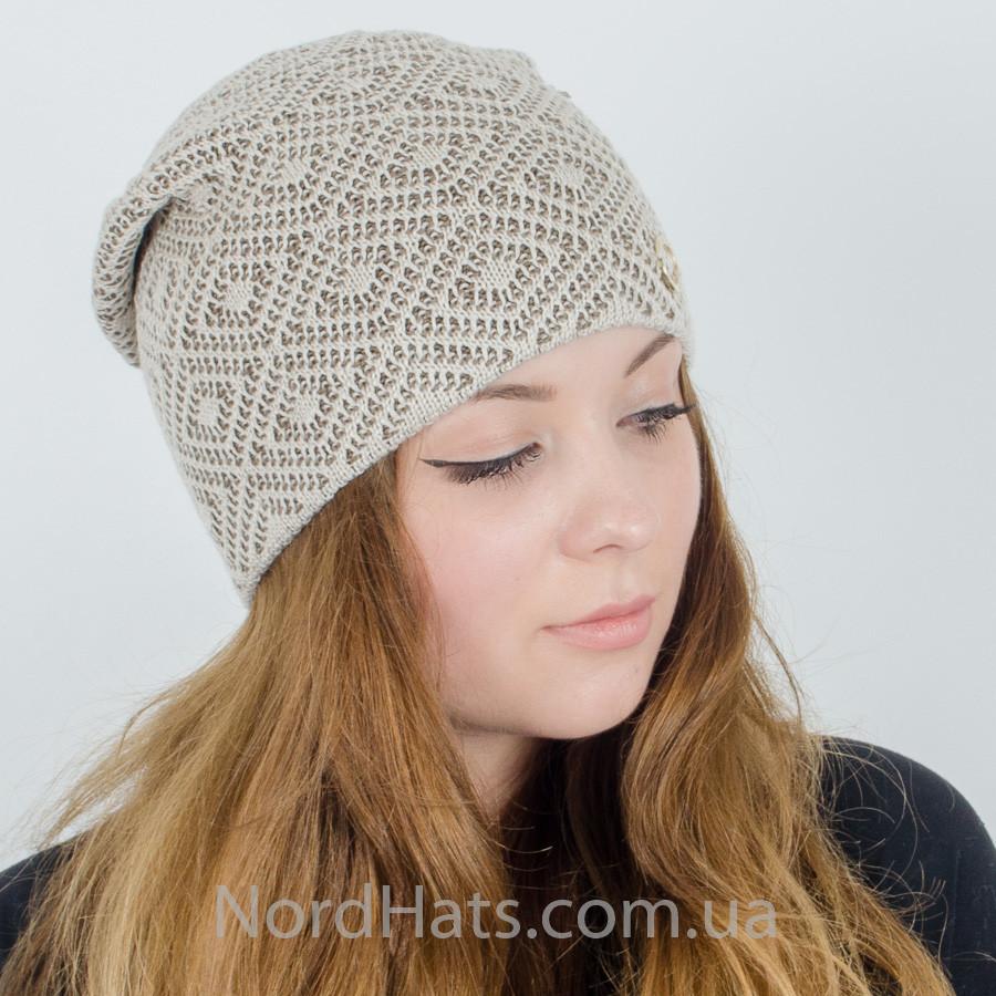 Женская вязаная шапка 4d34258ecf6e3