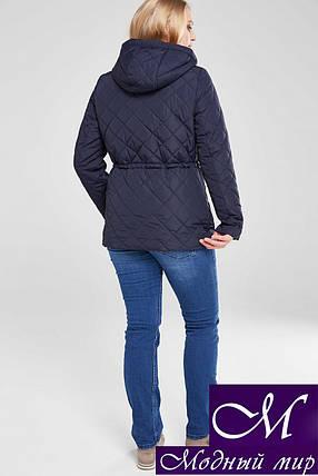 Осіння жіноча куртка великого розміру (р. 48-68) арт. Мейсі т. синій, фото 2