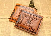 Мужской кошелек портмоне с тиснением доллар Молодежный дизайн Замечательный подарок Код: КГ5927, фото 1