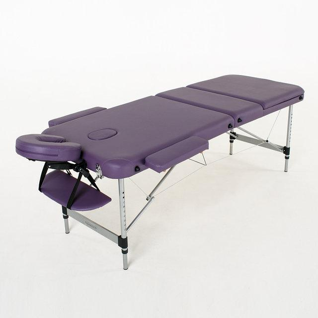 Массажный стол алюминиевый 3-х сегментный RelaxLine Belize (фиолетовый), фото 1