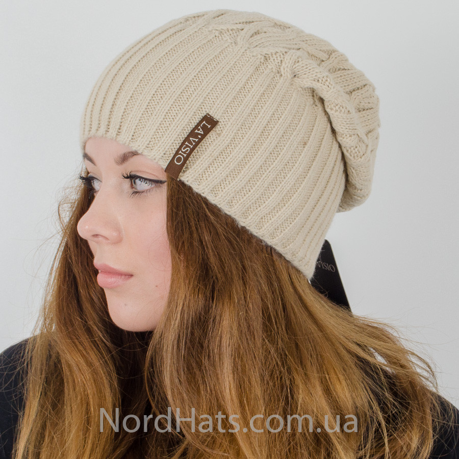 Женская удлиненная шапка, LaVisio (Бежевый)