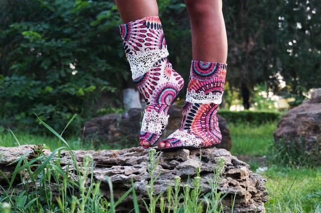 Полусапожки с открытым носком прошва+макраме. Подошва: черная и белая. Размеры: 36-42 код 4406О, фото 2
