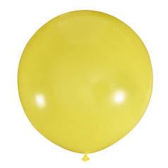 """Шар 24"""" LATEX OCCIDENTAL-МК пастель 001 желтый"""