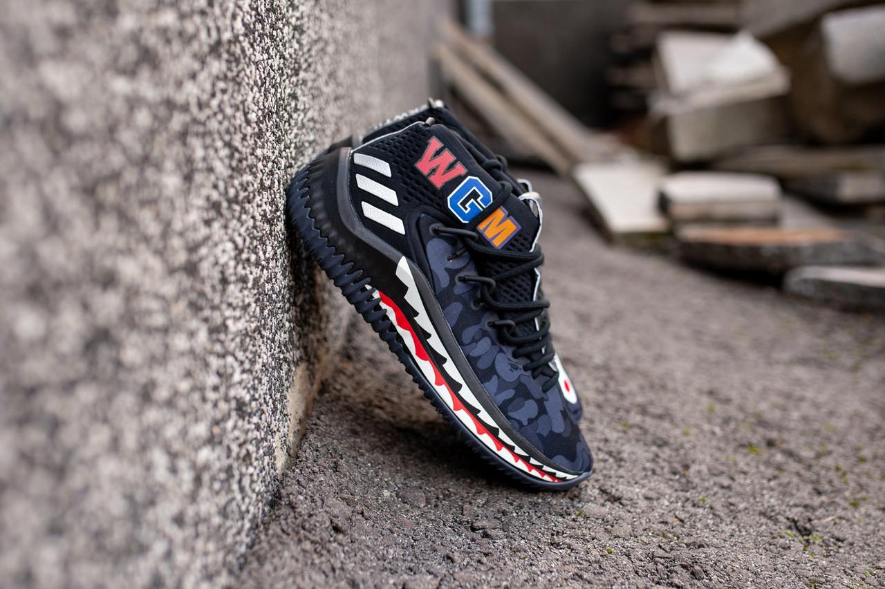 мужские кроссовки Adidas Dame 4 X Bape реплика ааа продажа цена в