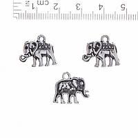 Фурнитура Подвеска Слон 1,5см фас.20гр. +-19шт.