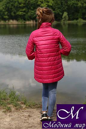 Куртка трапеция демисезонная (р. 42-50) арт. Ирада малина, фото 2