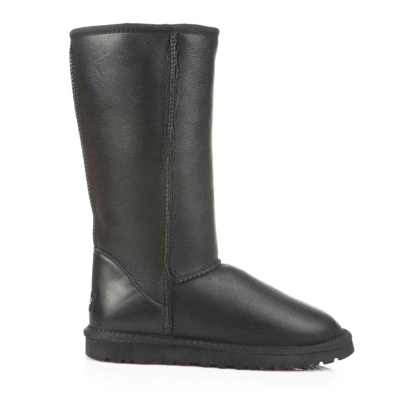 Угги Ugg Australia Classic Tall Metallic Black Leather