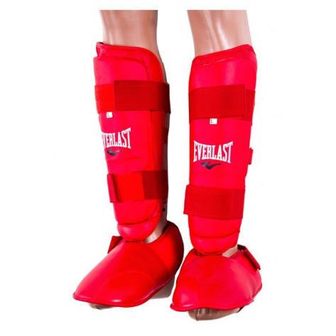 Защита ноги Everlast, голень и стопа отдельно красные, фото 2