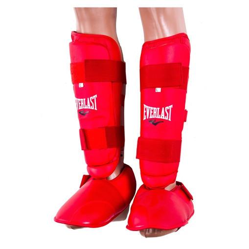 Защита ноги Everlast, голень и стопа отдельно красные