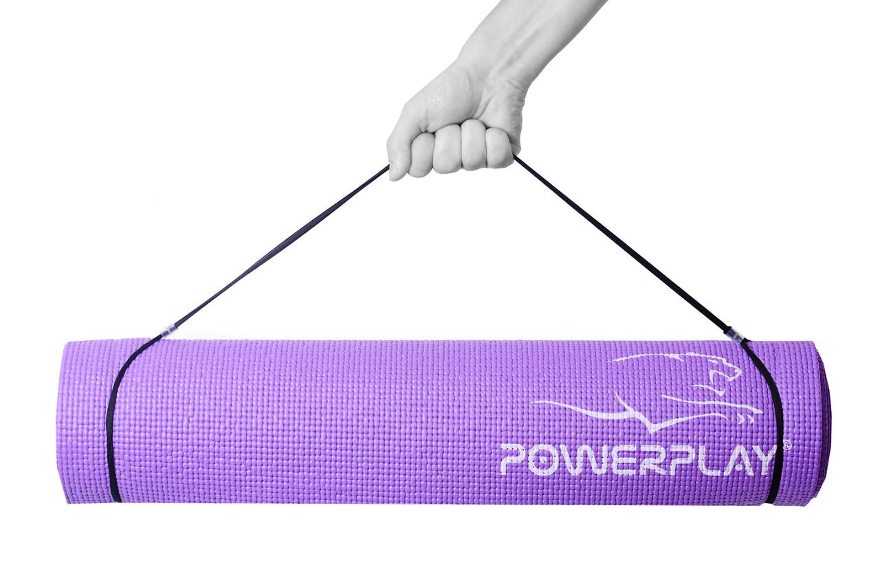 Коврик для йоги и фитнеса PowerPlay 4010 (173*61*0.6) фиолетовый