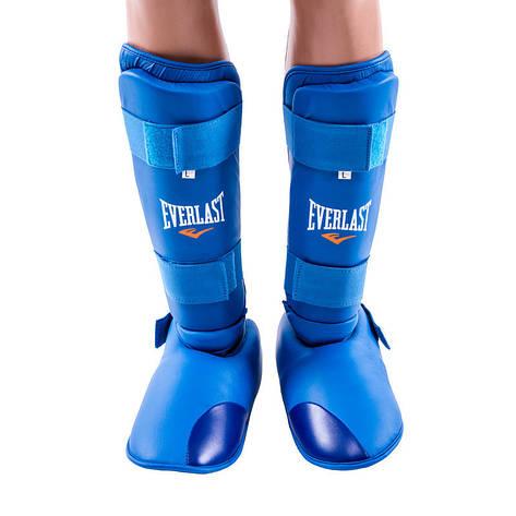 Защита ноги Everlast, голень и стопа отдельно синие, фото 2