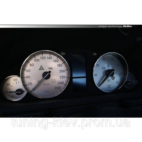 Шкалы приборов Mercedes W203