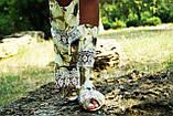 Полусапожки с открытым носком ткань+макраме. Подошва: черная и белая. Размеры: 36-42 код 4432О, фото 2