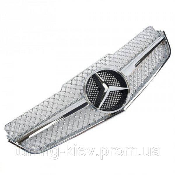 Решетка радиатора Mercedes С207 coupe / А207 cabrio стиль AMG хромированная