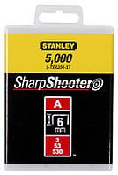 Скобы для степлера сшивателя пистолета тип   А  6 мм Stanley ( 1-TRA204T ) |Скоби для степлера зшивача, фото 1