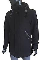 Куртка-парка мужская W-158/8 Черная, фото 1