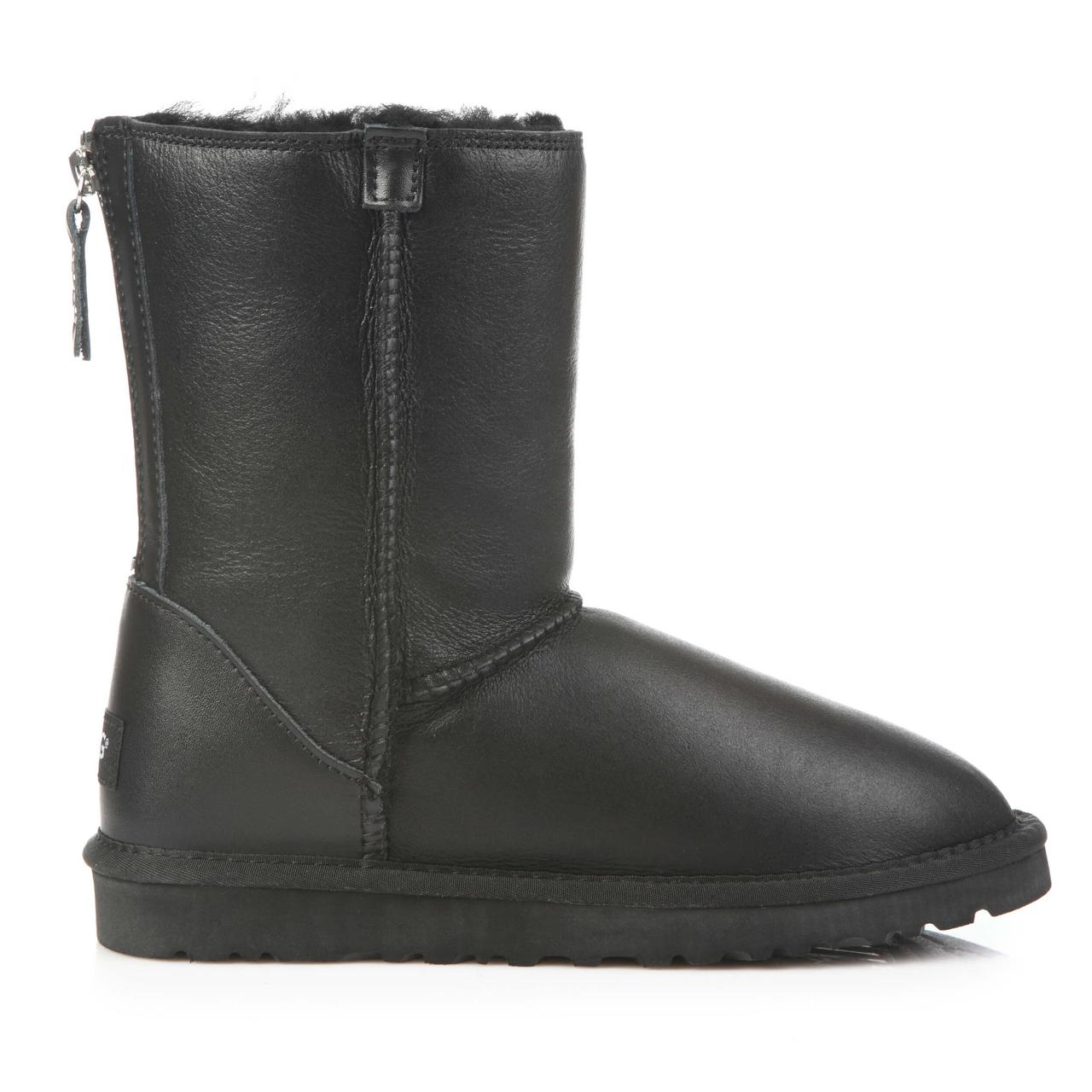 Угги UGG Australia Short Zip Metallic Black