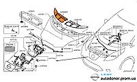 Накладка жабры капота правая Nissan Leaf ZE0 (10-13) 65836-3NA0A