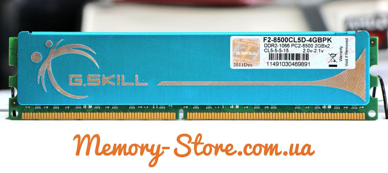 Оперативная память для ПК DDR2 G.Skill 2GB PC2-8500 1066MHz, Intel/AMD