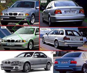 Фары передние для BMW 5 E39 '96-03