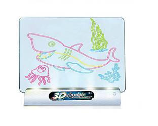 Доска для рисования с 3D-эффектом игровой набор Спартак Toy Magic 3D морской мир