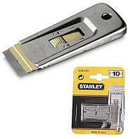Змінні леза до шкребка для скла 40мм (шкребок 0-28-500) (10шт.) Stanley 0-28-510 | переменные лезвия скребка стекла