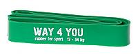 Резинка для подтягиваний Way4you, латекс, 208x4.37cм., 17-54кг., зеленый (w40005)