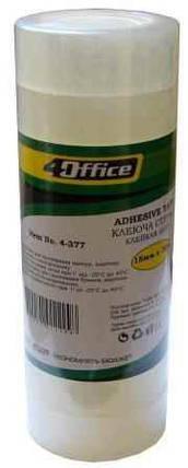 Стрічка клейка канцелярська 4Office, 4-377, 18мм*30м, фото 2