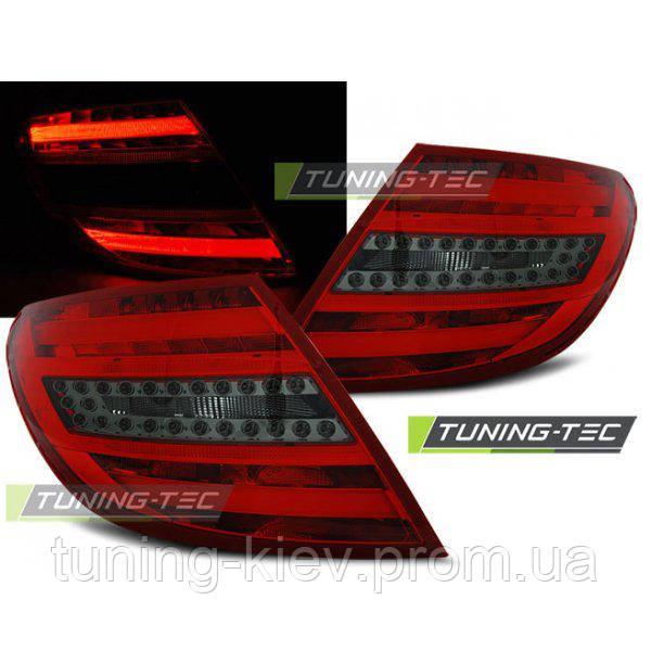 Задние фонари MERCEDES C-KLASA W204 SEDAN 07-10 RED SMOKE LED BAR