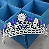 Диадема и серьги Набор Жасмин тиара и серьги для волос корона синяя на голову диадемы тиары, фото 10